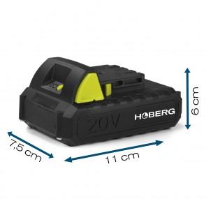 Hoberg Starterkit aus Universal-Akku 20 V, 2.0 Ah und Ladestation