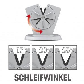 GOURMETmaxx Messerschärfer - 3 Schleifwinkel