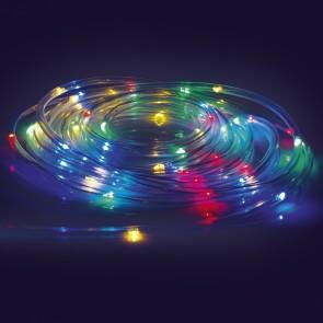 EASYmaxx LED-Lichtschlauch 5m - 2er-Set - Batteriebetrieben - transparent