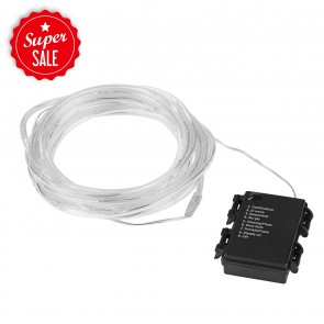 EASYmaxx LED-Lichtschlauch 5m 4,5V - Transparent