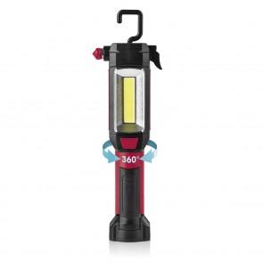 EASYmaxx LED-Arbeitsleuchte 7in1 4,5V - Schwarz/Rot