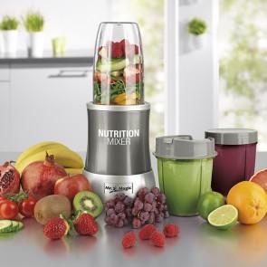GOURMETmaxx Nutrition Mixer - Smoothies Mixer 11-tlg Set in Grau