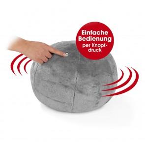 VITALmaxx Kuschelkissen mit Vibrationsfunktion - 2 Vibrations-Massage-Stufen - grau