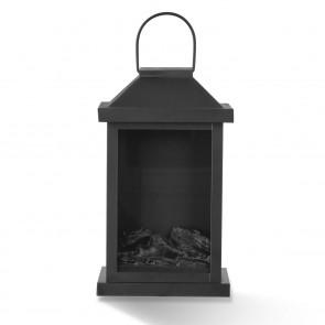 EASYmaxx LED-Laterne Flamme Metall 4,5V 15 x 15 x 23,5 cm - Schwarz