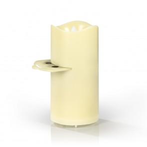 EASYmaxx LED-Projektor Kerze - 4 Themenschablonen - creme