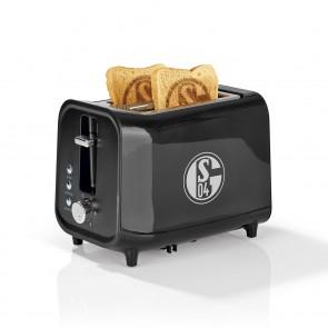 S04 Toaster mit Soundfunktion mit Logo - schwarz/silber