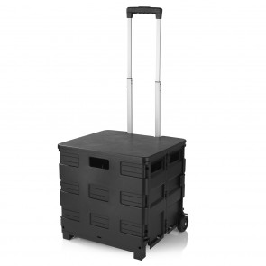 EASYmaxx Einkaufstrolley - faltbar - schwarz