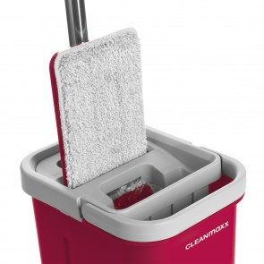 CLEANmaxx Komfort-Mopp 2 Kammern-System - 5,7 Liter - rot/grau
