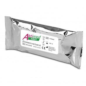 Aktimed HAUT | Zinkleimverband | mit pflanzlichen Extrakten | 2-teilig: kühlender, pflegender Verband weiß + Schutzverband blau