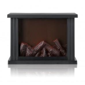 EASYmaxx LED-Standkamin mit Flammeneffekt - schwarz