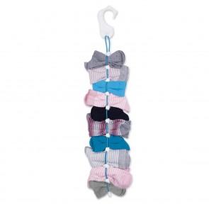 EASYmaxx Socken-Organizer - Für je 10 Sockenpaare - 2er-Set - weiß/blau
