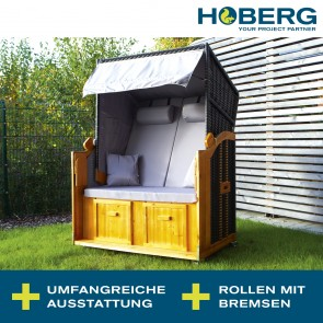 Hoberg 2-Sitzer-Strandkorb (Ostsee) mit extra Bezug
