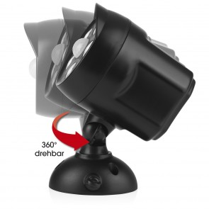 EASYmaxx LED-Strahler In- & Outdoor - 360°-drehbarer Spot