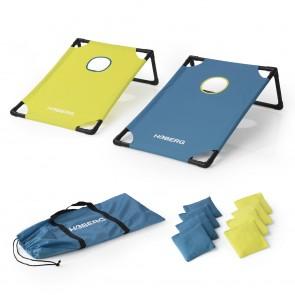 Hoberg Outdoor Wurfspiel Cornhole - Turnier Set aus 2 Boards, 8 Säckchen, Transporttasche