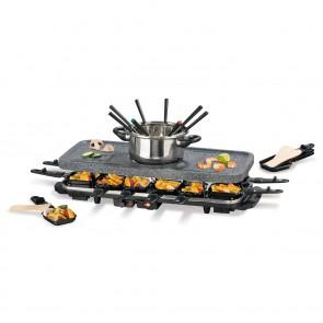 GOURMETmaxx Raclette-& Fondue-Set GRANITlook - Freisteller