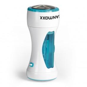 CLEANmaxx Fusselrasierer Deluxe - Batteriebetrieben- weiß/blau