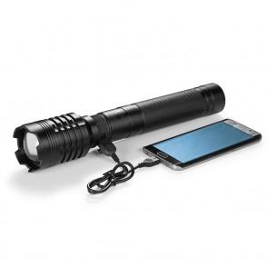 EASYmaxx Security Taschenlampe - 4000 Lumen - schwarz