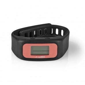 syltfit Fitness-Armband - schwarz/koralle - präsentiert von Beatrice Egli