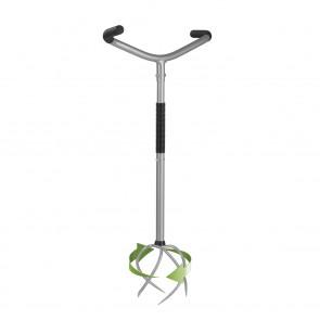 RUWI Gartenkralle - 3-fach höhenverstellbar - 360° Spiral-Kralle - silber/schwarz