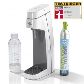 sodatrend Sprudler Classic grau/weiß PET-Flasche + CO2-Zylinder