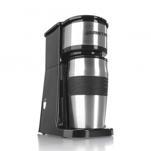 GOURMETmaxx Edelstahl-Kaffeemaschine Thermobecher in Schwarz - Freisteller Lieferumfang