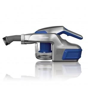 CLEANmaxx Akku-Zyklon-Staubsauger - Mit Tele-Gelenksaugrohr - blau/silber