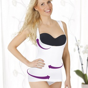 SLIMmaxx Shaping-Top - 2er-Set - rosa/weiß