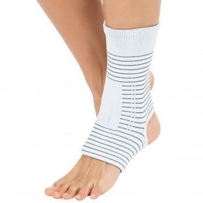 VITALmaxx Bandage Knöchel mit Kupferfasern - Weiß