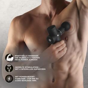 FitEngine Mini Massage Gun - Für Nacken, Waden, Rückenstrecker etc.
