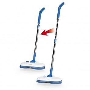 CLEANmaxx Akku-Spray-Mopp 360° - 3,7 Volt - blau/weiß