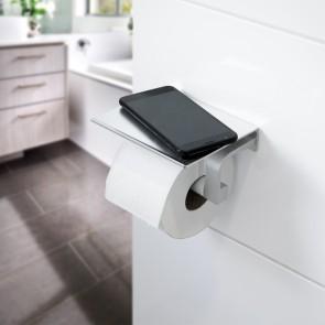 EASYmaxx Toilettenhalterung mit Smartphone-Ablage - silber