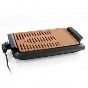 GOURMETmaxx Tischgrill - rauchfrei - max. 220 °C - schwarz/kupfer