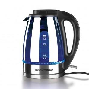 GOURMETmaxx Wasserkocher Glas LED 2000W, Chromfarben - Freisteller 1