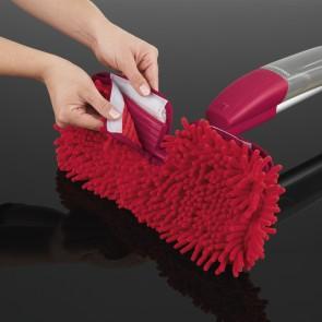 CLEANmaxx Ersatz-Wischtuch 2er-Set in Rot für den Spray-Mopp