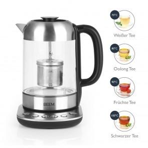 BEEM TEATIME II Tee- und Wasserkocher mit Teesieb - 1,7 l