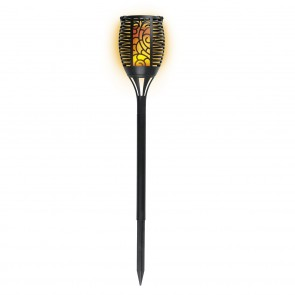 EASYmaxx Solar-Fackel - Mit Flammeneffekt - 75 cm - schwarz