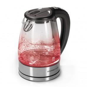 GOURMETmaxx Wasserkocher Glas LED/Temperaturwahl 1,7l 2000W Edelstahl - Freisteller 1
