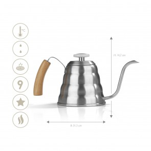 BEEM POUR OVER Wasserkessel mit Thermometer - 1,2 l
