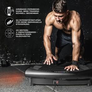 FitEngine 4D Vibrationsplatte - 3 Vibrationsmodi, 4D-Technologie & 60 Intensitätsstufen