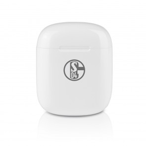 S04 Kopfhörer In-Ear Bluetooth - weiß/grau mit Logo