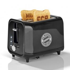FC Bayern München Toaster mit Soundfunktion mit Logo - schwarz/silber