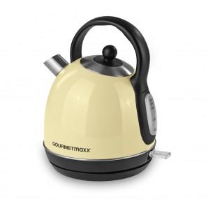 GOURMETmaxx Wasserkocher Retro 2200W - Vanille
