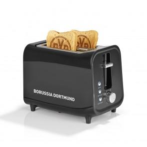 BVB Toaster mit Soundfunktion mit Logo - schwarz/silber