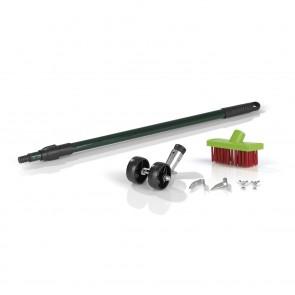 EASYmaxx Fugenreiniger Outdoor - Anpassbare Teleskopstange - grün