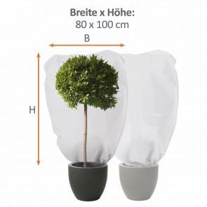 PRIMA GARDEN Pflanzen-Winterschutzhaube L 2er-Set 80x100 cm, Beige