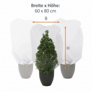 PRIMA GARDEN Pflanzen-Winterschutzhaube M 3er-Set 60x80 cm, Grün
