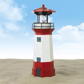 EASYmaxx Solar-Leuchte Leuchtturm 1,2V - Rot/Weiß
