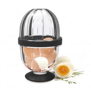 GOURMETmaxx Eierschäler - Schälen durch Schütteln - transparent/schwarz