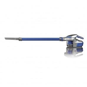 CLEANmaxx Akku-Zyklon-Staubsauger - Auf ca. 80 cm verlängerbar - blau/silber