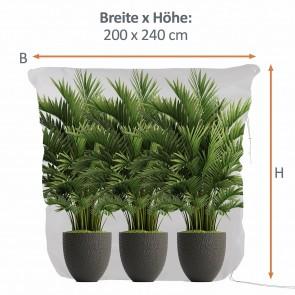 PRIMA GARDEN Pflanzen-Winterschutzhaube XXL, 240x200 cm, Grün
